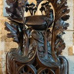 Crantock Church - Carved Choir Stall End