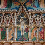 Part of the reredos behind the altar