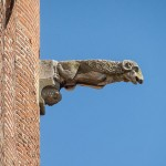 One of the many gargoyles which were added in the 19th century
