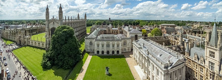 Looking West - the view includes King's College and Chapel, Clare College, the University Library, Trinity Hall and the Senate House.