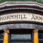 Beautiful tiles and lettering on the Thornhill Arms pub