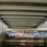 Under the Haggerston railway bridge