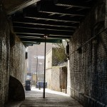 Backstreet under the Cambridge Heath railway bridge
