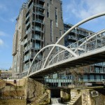 The bridge and lock at the entrance to the Limehouse Basin