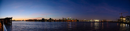 Sunset panorama from Greenwich