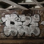 Graffiti under the railway bridge from Marylebone Station