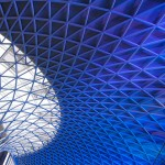 The spectacular new roof over the concourse at King's Cross Station