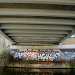Under the Haggerston railway bridge