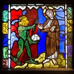 Stained Glass Panel - First Temptation of Christ - c1175