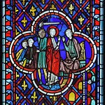 Stained Glass Panel - Scene from the story of Daniel - c1245