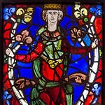 Stained Glass Panel - King from a Tree of Jesse - c1210-45