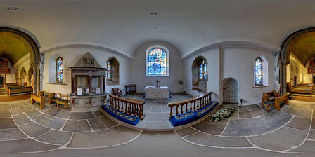 Panorama of Tudely Church chancel