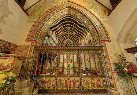 Hascombe Rood Screen and Chancel Arch