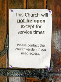This church will not be open except for service times