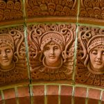 Watts Chapel - detail from the doorway arch