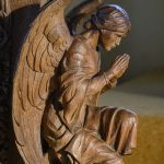 Altar Rail Angel, Lansallos Church